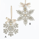 Vintage Glamour Snowflake Ornaments 2 Assorted
