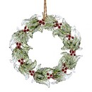 Wreath With Glitter Ornament