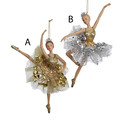 Silver And Gold Ballerina Ornaments