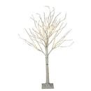 4'  White Birch Tree With 120 Warm White Twinkle Led Lights