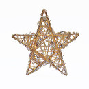 20/light Gold Rattan Star