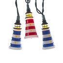 Red, White And Blue Striped Lighthouse Light Set