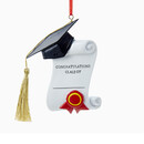 Graduation Diploma Ornament For Personalization