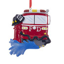 Fire Truck Ornament For Personalizaiton