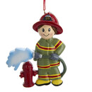 Firefighter Ornament For Personalization