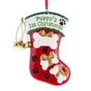 Puppy's 1st Xmas Stocking Ornament