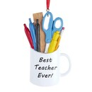 Best Teacher Ever Mug Ornament