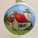 Door County Eagle Bluff Lighthouse Glass Ball Ornament
