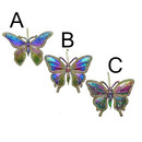 Rainbow Butterfly With Glitter 3 Assorted