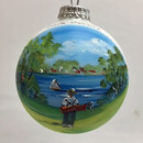 Peninsula State Park Golfing Glass Ball Ornament