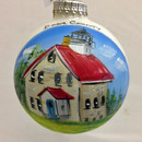 Potawatomi Lighthouse Glass Ball Ornament