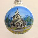 Stavkirche, Washington Island Glass Ball Ornament