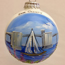 Sturgeon Bay Bridge Glass Ball Ornament