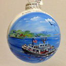 Washington Island Ferry Glass Ball Ornament